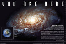 YOU ARE HERE - POSTER / PRINT (THE EARTH IN SPACE / THE MILKY WAY)