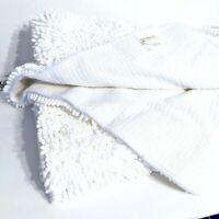 Gorilla Grip Original Luxury Chenille Bathroom Rug Mat, Extra Soft - White