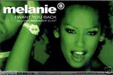 MELANIE B MISSY MISDEMEANOR ELLIOTT - I WANT YOU BACK 1998 UK CASSINGLE SLIP-CAS