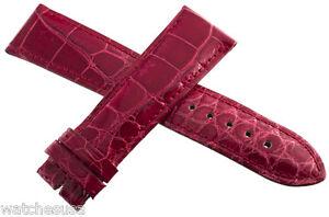 Locman Femmes 22MM Rouge Alligator Cuir Montre Bracelet