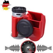 Auto-Motorrad-LKW 12V Rot Compact Dual Tone Elektrische Pumpe Horen 115dB- 139dB