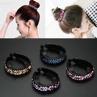 Womens Rhinestone Crystal Hair Clips Ponytail Bobby Pin Hairpin Headdress Acc