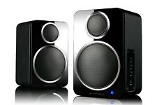 Wharfedale DS-2 Active Bluetooth Desktop Speakers (Pair) PC/MAC/Turntable -Black