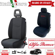 COPPIA COPRISEDILI Specifici Alfa Romeo GIULIETTA Foderine ANTERIORI Nero 38