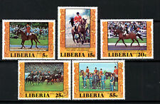 (Ref-5964) Liberia 1977 Montreal Olympics Equestrian SG.1314/1318 Used (C.T.O.)