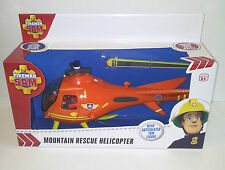 Fireman Sam - Mountain Rescue Helicopter - With Articulated Tom Figure - 3 + Yrs