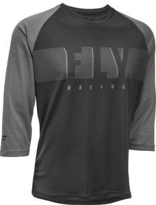 Fly Racing Ripa 3/4 Sleeve Jersey | Black/Charcoal Grey | Choose Size