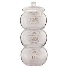 Clayre & Eef Vorratsdosen aus Glas stapelbar