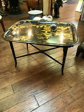 Chinese-Style Metal Tray Coffee Table