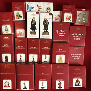 24 count LOT of Hallmark Ornaments in Original Boxes * Mostly Current * See Pics
