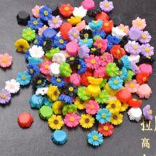 DIY 20Pcs Resin Sunflower Flower Flat Back Scrapbooking For Phone/ Craft 12MM