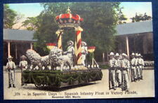 PHILIPPINES  SPANISH INFANTRY FLOAT IN VICTORY PARADE