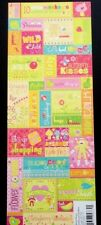K & Company Embossed Stickers *BERRY SWEET-Girl Captions-Scrapbooking-Cardmaking