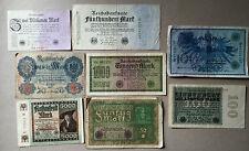 Sammlungsauflösung Posten 8 alte Geldscheine Deutsches Reich -Inflation.... (7)