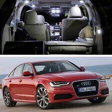 White 9x LED SMD Light Interior Bulbs Kit New for Audi A6 2012-2016 Error Free