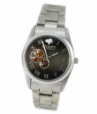NEW!  Official Peanuts Snoopy stainless steel Wrist AUTOMATIC Watch  # SZ007-13b