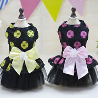 Small Dog Clothes Cute Pet Dog Puppy Tutu Dress Lace Skirt Cat Princess Apparel