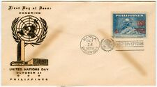 Philippine 1959 Honoring The United Nation Day FDC - B