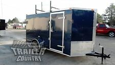 NEW 2017 6 X12 6 X 12 V NOSE ENCLOSED CARGO CONSTRUCTION TRAILER W/ LADDER RACKS