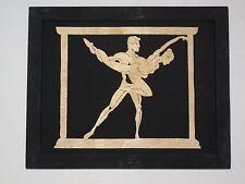 Framed Scroll Saw Art Carving Wood Wooden Ballet Dancer Silhouette Ballerina