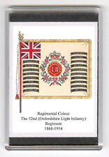 OXFORDSHIRE LIGHT INFANTRY REGIMENTAL COLOURS 1868 FRIDGE MAGNET