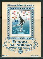 HUNGARY-1963.Souv.Sheet - European Figure Skating Chship (Sport) MNH! Mi Bl.37
