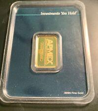10 Gram 999.9 Gold Bar Sealed Apmex w assay