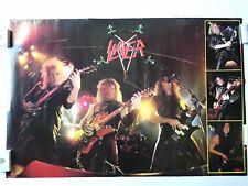 Slayer Thrash Metal Band Concert Collage Vintage Poster