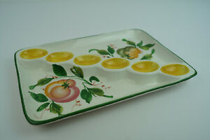 60er Vintage Serving Plate Italy Ceramic Cheese Plate Coldcut Plate Retro 70er