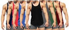 LOT MENS BODYBUILDING VEST GYM STRINGER VEST RACERBACK MUSCLE FITNESS SINGLET UK
