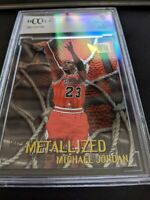 Michael Jordan 1996 Fleer Metal #128 BGS BCCG 9 MINT!! Bulls METALLIZED.HOT CARD