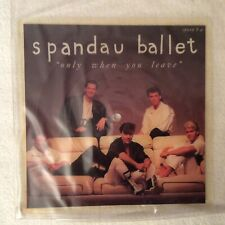 """Spandau Ballet/Only when you leave/ lim. Picture Disc 7"""", 1984, shape, NM"""