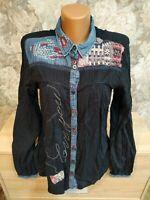 Desigual Women's shirt size L black color