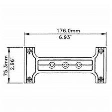 Penn-Elcom plastic bar handle replacements for plastic recess dish DJ speaker