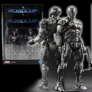 """Hiya Robocop EM208 2 Pack 4"""" Action Figure 1:18 Scale Mini Series Official"""
