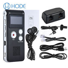 Rechargeable 8GB Digital Audio/Sound/Voice Recorder Dictaphone MP3 Player UK