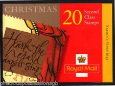 GB QEII BARCODE BOOKLET LX18 1999 CHRISTMAS STAMPS