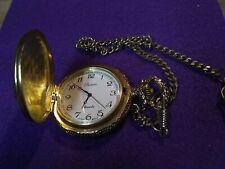 Parmex Quartz Vintage Horses Scene Pocket Watch w/ Chain (Japan Movt) classic