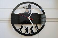 Walking Dead design wall clock, made from black plexiglass [ D-4 ]