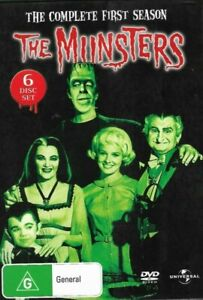 THE MUNSTERS ~ Complete First Season (REGION 4, 6 DISC DVD SET) Black & White 🎬