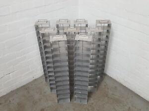 Lot of 9 Aluminium -80 Freezer Storage Racks Lab