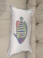 Cream/ivory Lumbar Fish Pillow with Insert