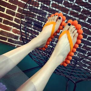 Women's Bubble Flat Flip-flops Non-slip Massage Comfor Beach Shoes Party Sandals