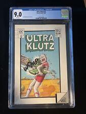 1986 Ultra Klutz #2, Onward Comics, Jeff Nicholson CGC 9.0 White Pages 8019