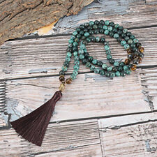 Women Beads Tassel Pendant Necklace Long Chain Sweater Fringe Charm