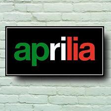 APRILIA 2FT 600mm x 5mm SIGN WALL PLAQUE RSV FV2 SXV FUTURA RS SHIVER TUONO