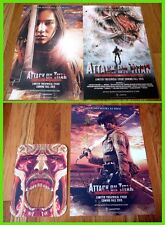 ATTACK ON TITAN 進撃の巨人 sdcc 2015 Exclusive Signed Poster SHINJI HIGUCHI 樋口真嗣