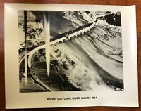 WWII Air Force Photo 67th Group Aerial Recon Bomb Damage Bridge Out France 1944