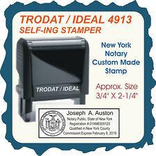 New York Notary Public Trodat Printy Ideal Custom Self Inking Rubber Stamp