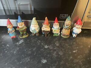little Garden Gnomes Job Lot Rubber Latex Mould Molds Bundle Of 6 Fairy Garden